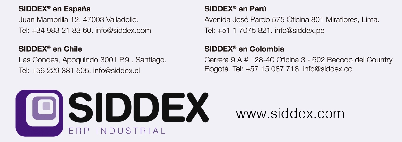 Nuestras delegaciones Siddex