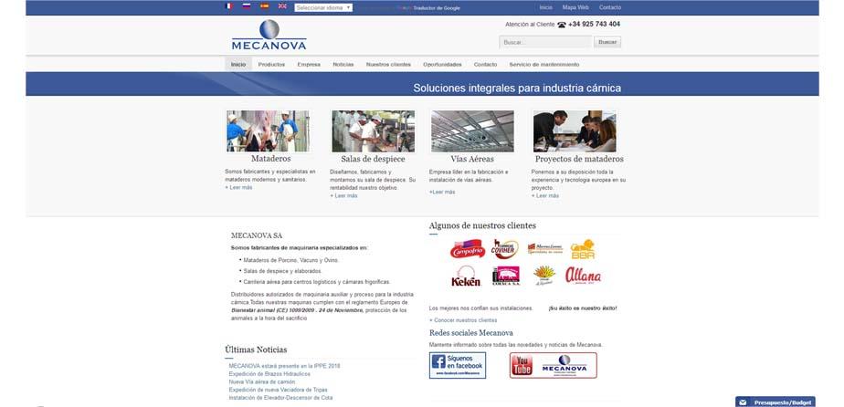 MECANOVA WEB cliente siddex